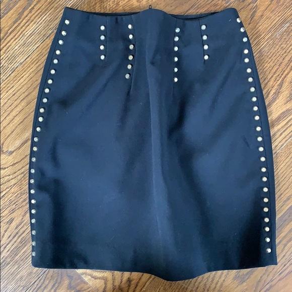 a70dc8036 H&M Skirts   Hm Womens Black Gold Studded Mini Skirt Size 2   Poshmark